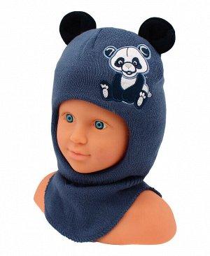 Шлем-шапка для мальчика Цвет: синий