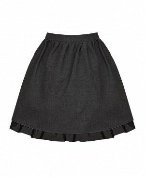 Школьная серая юбка для девочки Цвет: серый