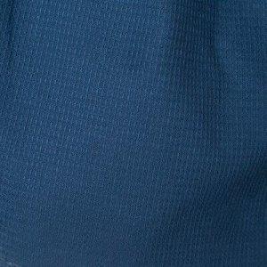 Халат вафельный запашной мужской р-р 50, цв.Василек, 160 гр/м,Хл.100%