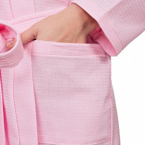 Халат вафельный запашной женский р-р 44, цв.Роза, 160 гр/м,Хл.100%