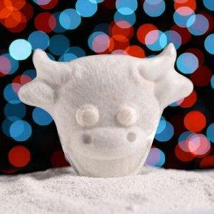 Бурлящая соль для ванны «Улыбающийся бычок», с ароматом ванили