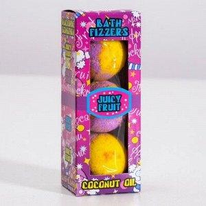 Набор бурлящих шаров Spa by Lara Juicy fruti с кокосовым маслом, (40 г*3 шт)