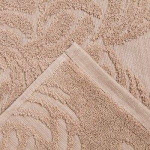 Полотенце махровое MANO 70х130 см, бежевый, хлопок 100%, 450г/м2