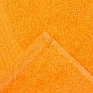 Полотенце махровое гладкокрашеное «Эконом» 70х130 см, цвет оранжевый