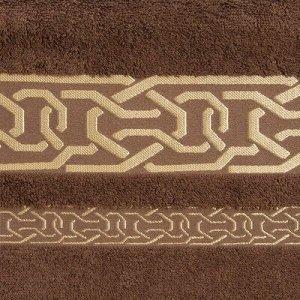 Полотенце махровое DONATELLO 70х130 см, хакки, бамбук 100%, 450г/м2
