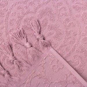 Полотенце махровое BAHAR 70х130 см, сирень, хлопок 100%, 380 г/м