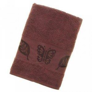 Полотенце махровое «Fiesta Cotonn Butterfly» 70х130 см, цвет сливовый