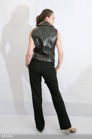 Жилет 100 нат.кожа, Стильный жилет косуха, брутальная фурнитура, на подкладе, есть боковые карманы