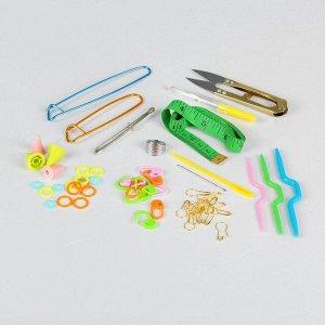 Набор для вязания вспомогательный, 14 предметов, в футляре