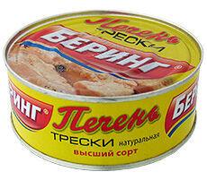 Беринг-Печень трески высший сорт (эт) 230гх48