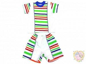 Костюм с вставкой: футболка, шорты kC-KS069-SUkr(pl)