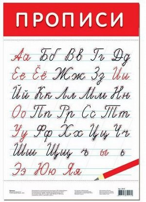 Обучающий плакат Прописные буквы