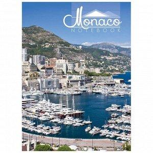 "Бизнес-блокнот 80л. А4 ""Монако"", 5-ти цветный блок, глянцевая ламинация"