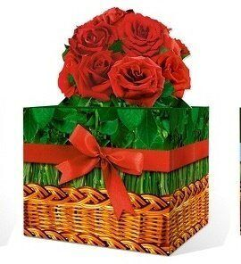 """Праздничная упаковка """"Весенний букет Розы"""""""
