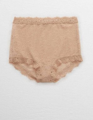 Aerie Eyelash Lace High Waisted Boybrief Underwear