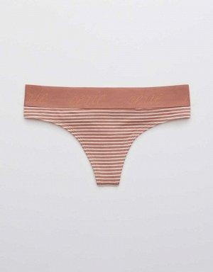 Aerie Cotton Logo Thong Underwear