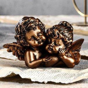 """Статуэтка """"Ангелы пара с алмазом"""", бронзовый, 8 см"""