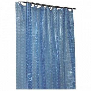 """Штора для ванной """"La Vita"""" 180х200см цв.синий 4550"""