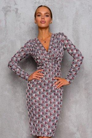 Платье Размер: 42 Платье с запахом на лифе – самый популярный вариант. Он подчеркивает грудь, делает акцент на бедрах. Приятные оттенки модели будут радовать Вас в течении всего дня! Кроме того, эта м