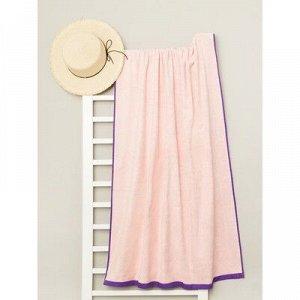 Полотенце пляжное велюровое Bradley 80х170 см, розовый, хлопок 100%, 500 г/м2