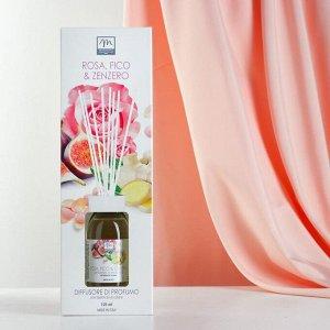 Ароматический диффузор с палочками Инжир, роза и имбирь Fig, Rose and Ginger, 125 мл