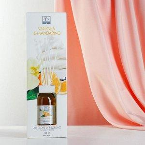 Ароматический диффузор с палочками Ваниль и мандарин Vanilla and tangerine, 125 мл