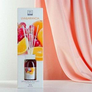 Ароматический диффузор с палочками Виноград и апельсин Grapes and orange, 125 мл