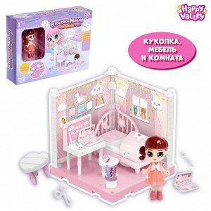 Кукольный дом «В гостях у Молли», спальня с куклой и аксессуарами