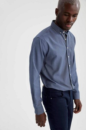 рубашка Размеры модели: рост: 1,88 грудь: 95 талия: 70 Надет размер: L  Полиэстер 48%, Хлопок 52%