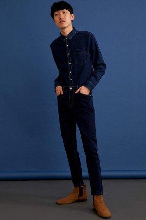 рубашка Размеры модели: рост: 1,88 грудь: 89 талия: 74 Надет размер: M Elastan 4%, Полиэстер 33%, Хлопок 63%