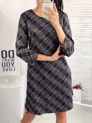 Платье Ткань: ангора. Замеры: ОГ-102, ОБ-124, ОТ-116 , длинна изделия-90см.