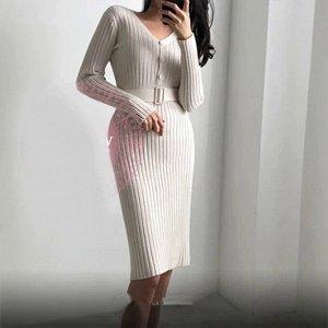 Платье Ткань: лапша. Внимание, цвет платья светло-коричневый. Пояс в комплекте.