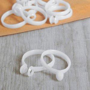 Кольцо для карниза. d = 34/40 мм. 10 шт. цвет белый