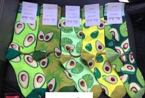 Женские носки авокадо
