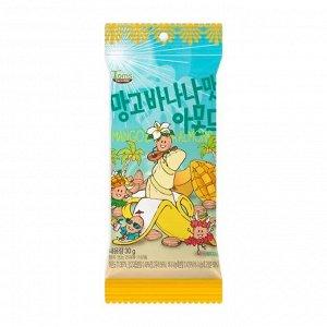 Обжаренный миндаль со вкусом сочных тропических ма*нго и банана 30г