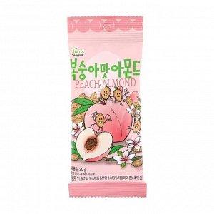 Миндаль обжаренный со вкусом сладкого персика Kukje Tom's Farm Peach Almond 30г СРОК ГОДНОСТИ ДО 09.07.2021
