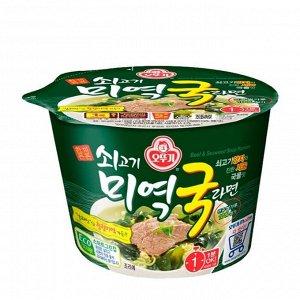 Лапша со вкусом говядины и морской капусты Beef & Seaweed soup ramen 100г