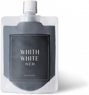 WHITH WHITE Men's Mud Face Wash - угольная пена для умывания