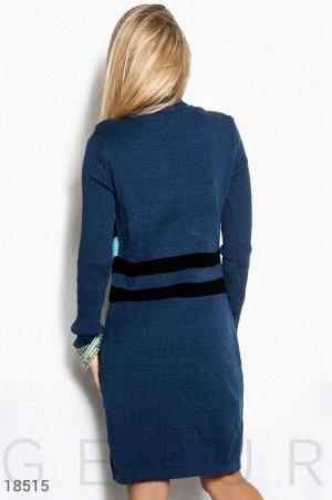 Цветное платье-свитер