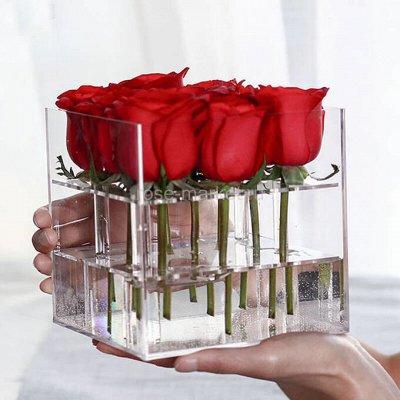 Искусственные цветы к родительскому дню. В наличии — Волшебная коробка для цветов — Подарочная упаковка