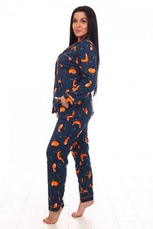 Пижама Цвет: Лисята; Ткань: Кулирка; Состав: 100% хлопок; Размеры: 44-54