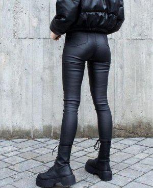 Матовые кожанные брюки (пропитка)