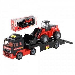 Автомобиль-трейлер Mammoet Volvo и трактор-погрузчик , кор. 86*32*22 см