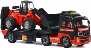 Автомобиль-трейлер+трактор-погрузчик МАММОЕТ VOLVO в лотке 90 см