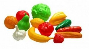 """Набор """"Фрукты, овощи""""(13 предметов в сетке)"""