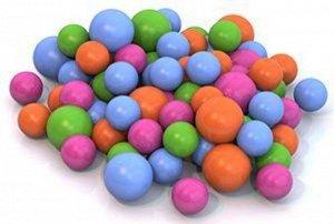 Шарики для сух. бассейна  диам. 6 и 8 см  ( 100 шт.), в сетке 80см  тм Нордпласт