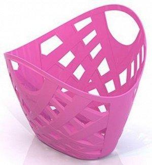 Корзинка плетеная розовая, 27*23,5*23см.  тм Нордпласт