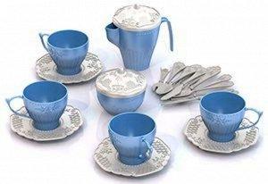 """Набор посуды """"Чайный сервиз """"Волшебная Хозяюшка"""" (24 предмета в пакете) тм Нордпласт"""