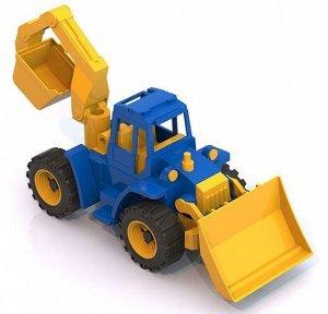 """Трактор """"Ангара"""" с грейдером и ковшом 32см   тм Нордпласт"""