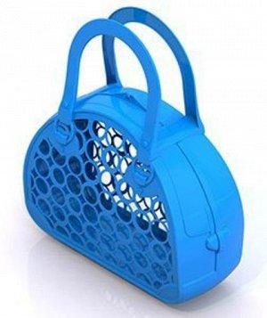 Сумка-корзина (голубая) 28*25*9см  тм Нордпласт